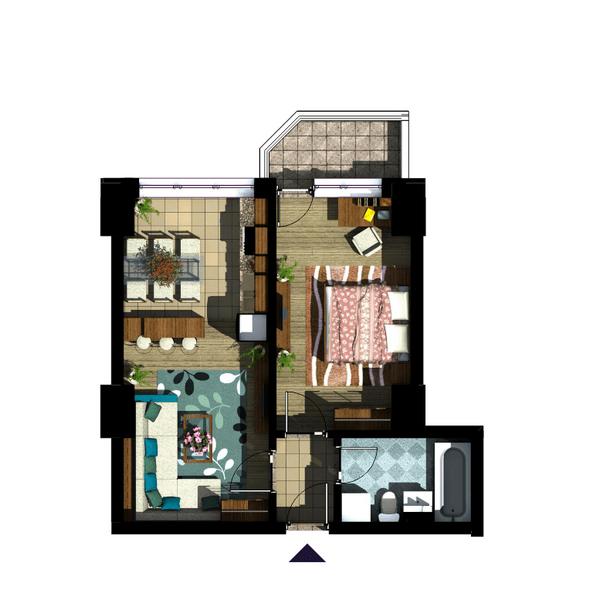 Apartament 2 camere Copou – Sadoveanu